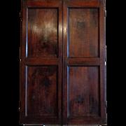 Pair of 19th Century Antique French Walnut Doors/ Facade