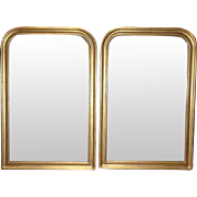 Pair of Vintage French Louis Philippe Style Mirrors
