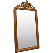 19th Century Antique French Louis Philippe Style Gilded Mirror