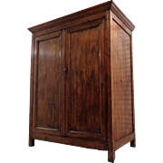 19th Century Antique French Louis Philippe Period Pine Armoire