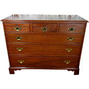19th Century Antique English Chippendale Mahogany Chest of Drawers