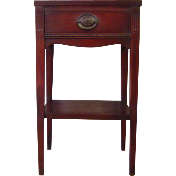 English Antique Mahogany Nightstand