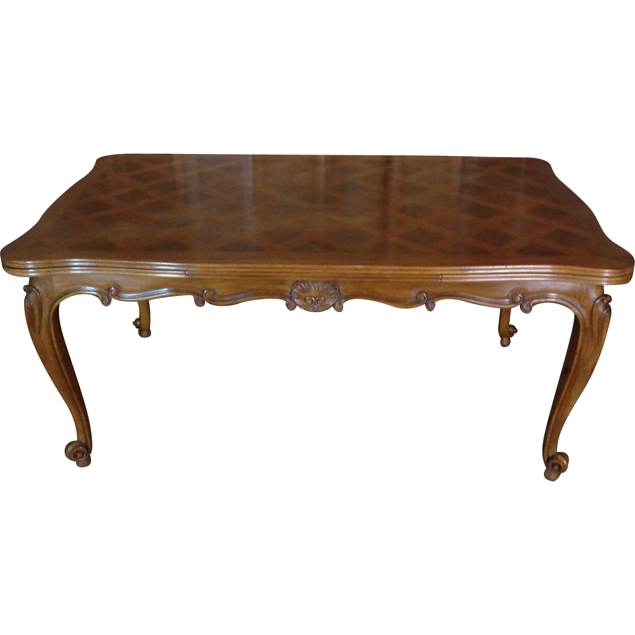 Antique Country French Louis XV Style Provencal Walnut Dining Table ...