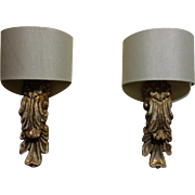 Pair of Italian Sconces with Antique Fragments