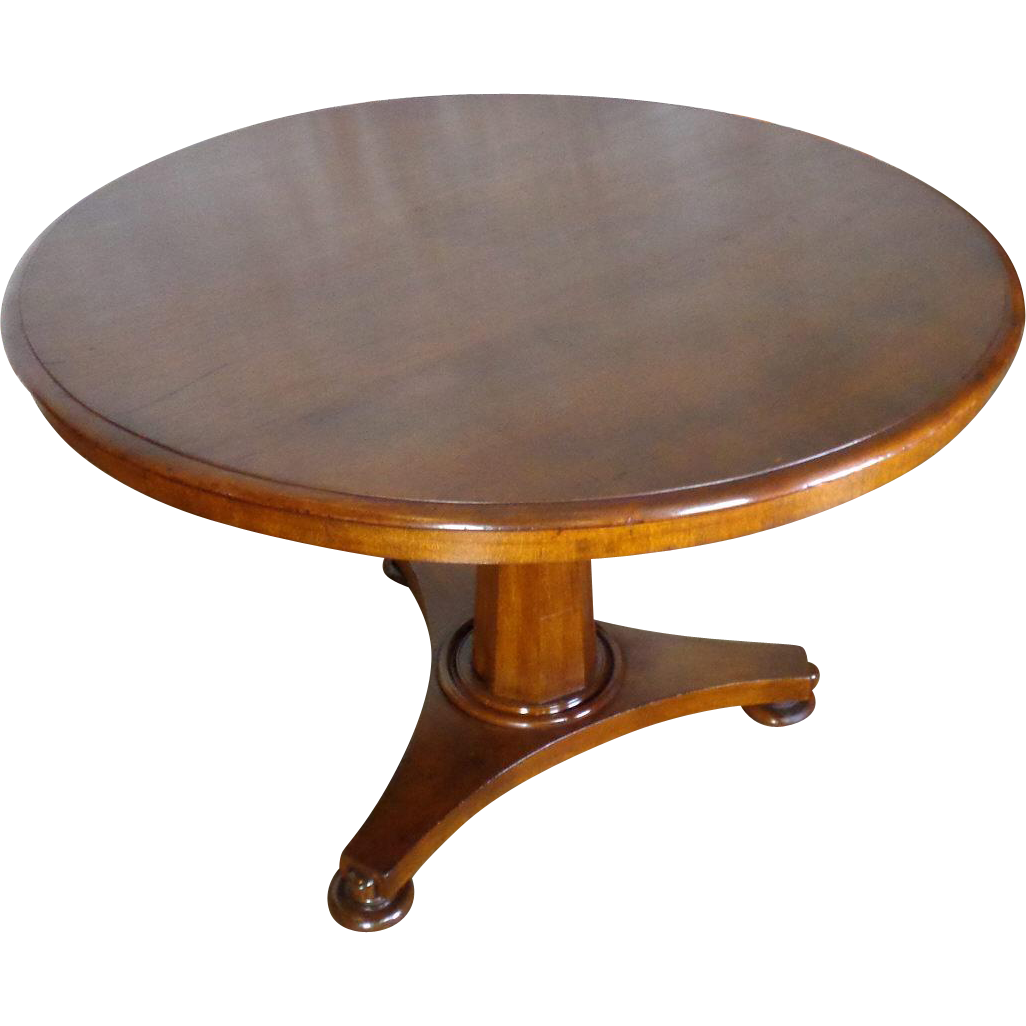 19th Century Antique English Regency Mahogany Round Table