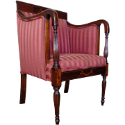 19th Century Antique English Regency Mahogany Armchair