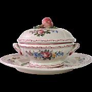 French Provencal Porcelain Soup Tureen