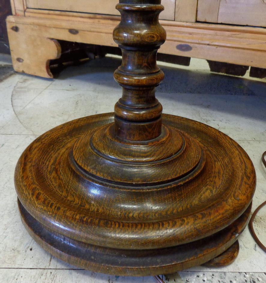 Antique barley twist floor lamp floor matttroy for Antique wooden floor lamp base