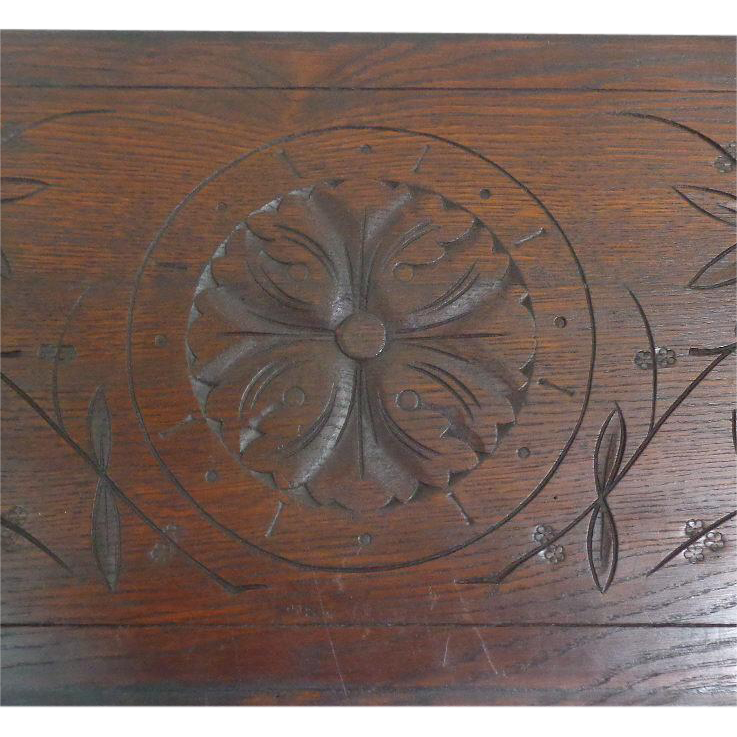 19th Century Antique Above The Door Oak Panel
