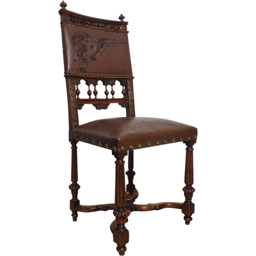 19th Century Antique French Walnut Renaissance Style Side Chair SOLD | Ruby Lane  sc 1 st  Ruby Lane & 19th Century Antique French Walnut Renaissance Style Side Chair SOLD ...