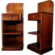 Pair of Vintage French Art Deco Period Nightstands