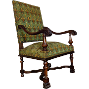19th Century Antique French Renaissance Style Armchair