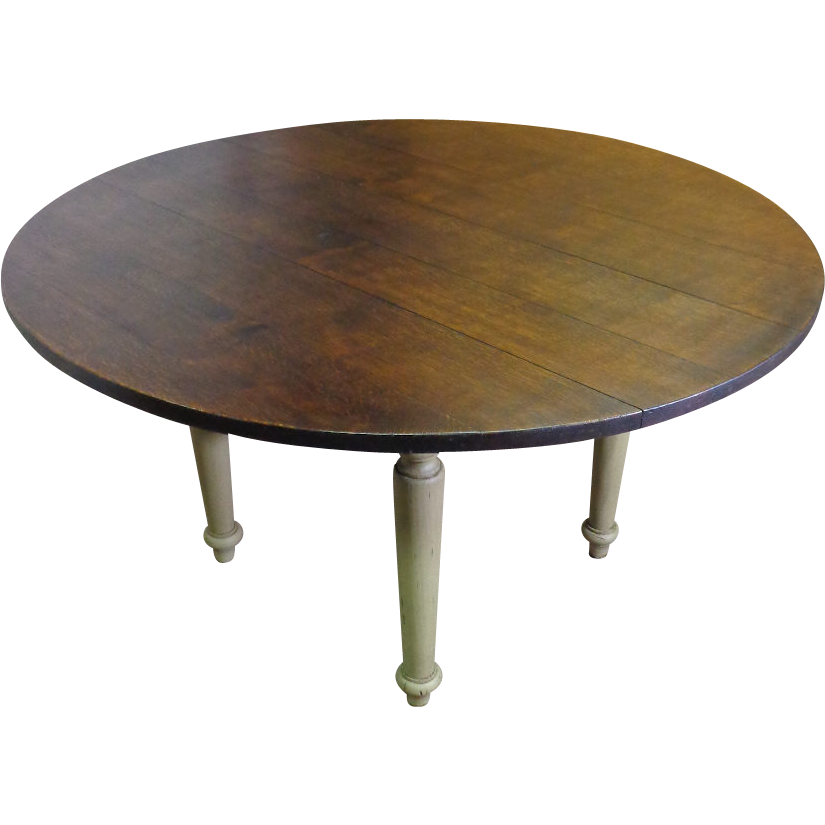 Antique french louis philippe style round table sold on - Table ronde style louis philippe ...