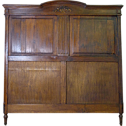 French Antique Provincial Oak Headboard