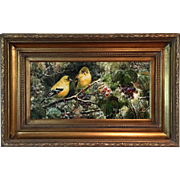 Oil On Canvas Painting The Birds
