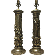 Tall Pair of French Louis XVI Style Lamps
