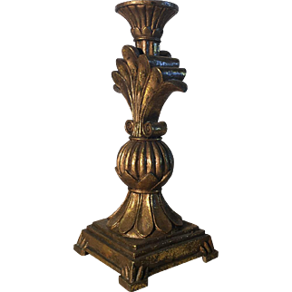 Antique French Regence Style Pedestal Lamp
