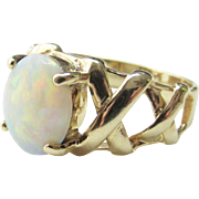 14K Gold and Large Opal Ring Vintage 4.13 grams