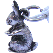 Vintage Sterling James Avery Bunny Rabbit Charm