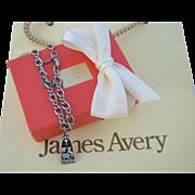 Vintage Sterling James Avery Noel Charm & Bracelet