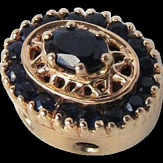 Vintage R. Klein 14K Sapphire Bracelet Slide