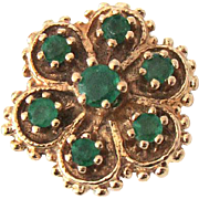 Vintage R. Klein 14K Emerald Slide for Bracelet
