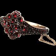 Divine Antique Victorian Bohemian Garnet Bracelet