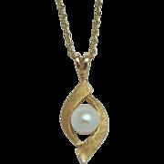 Vintage 14K Pearl Pendant