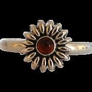 Vintage Taxco Sterling Flower Cuff Bracelet