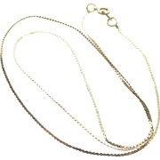 "14K Serpentine Yellow Gold 15"" Necklace"