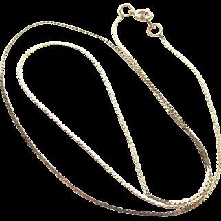 "14K Serpentine Yellow Gold 15"" Necklace"