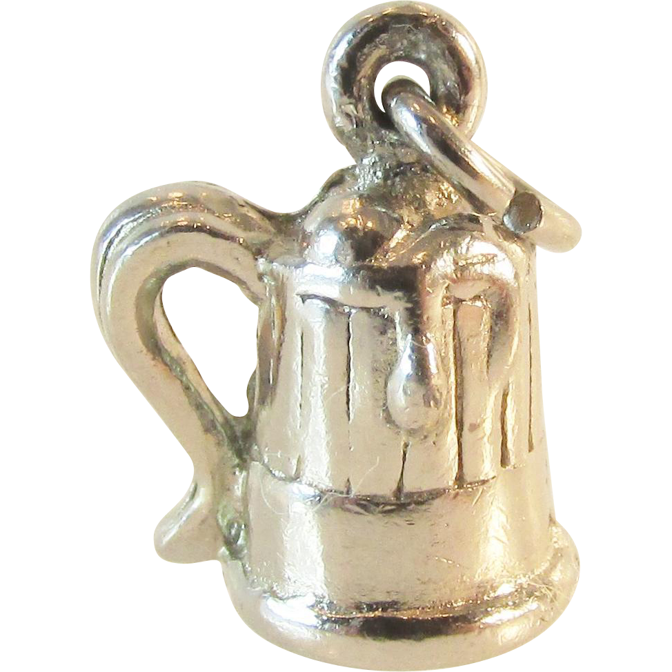 Sterling Beer or Root Beer Mug Charm Vintage