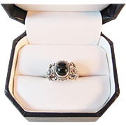 Gorgeous Black Onyx Sterling Ring Vintage