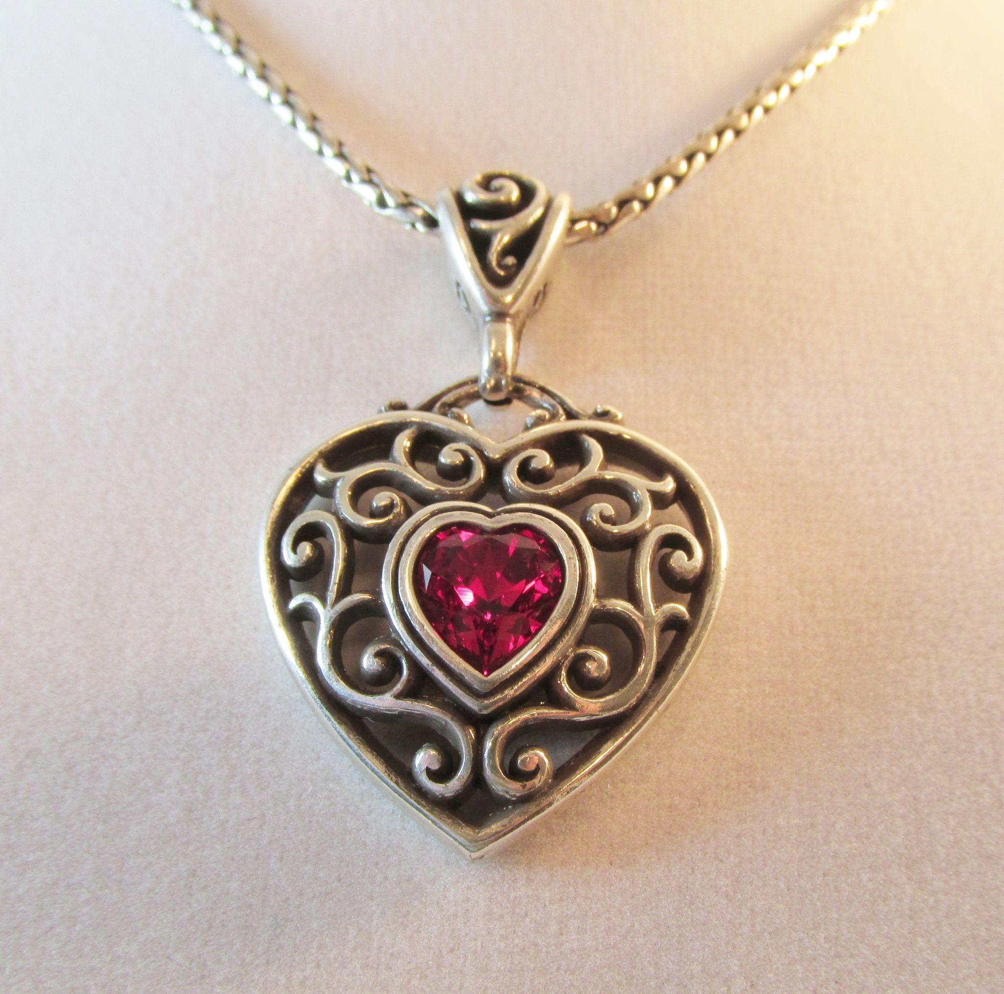 Huge Price Reductions Brighton Heart Necklace Pendant Red from