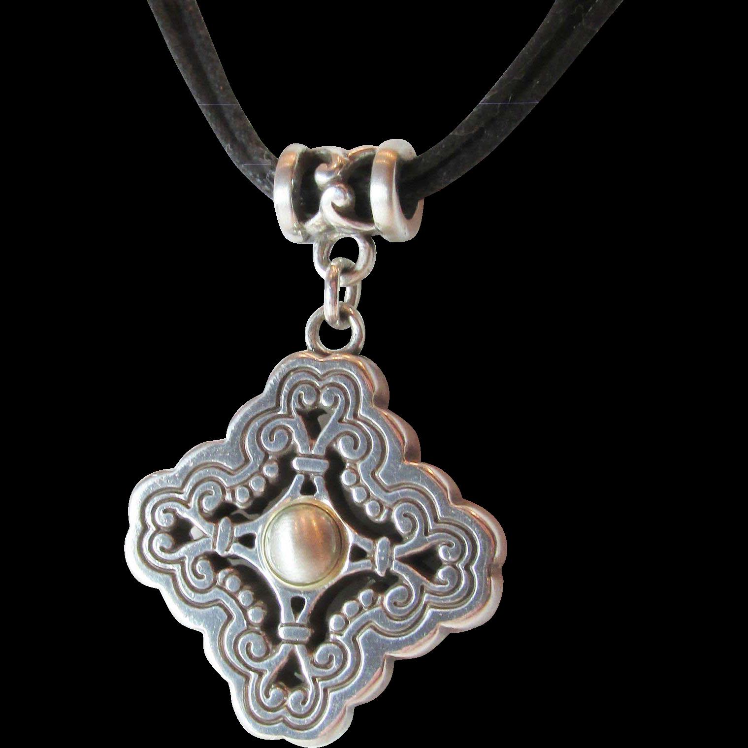 Brighton Pendant Necklace with Brighton Metal Heart Shape Box Vintage