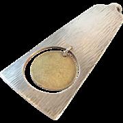 Hans Hansen Sterling Gold Vermeil Pendant 27.45 Grams