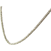 "Italian Sterling Silver Thick 20"" Chain Estate 9.8 Grams"