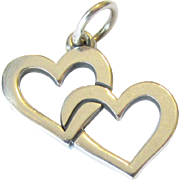 Sterling James Avery Double Heart Pendant