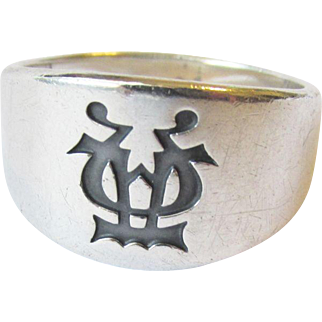 James Avery Men's Sterling Alpha and Omega Ring