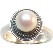 James Avery Pearl Sterling Ring Estate