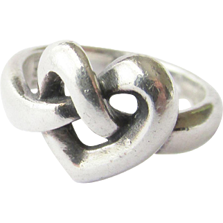 James Avery Sterling Silver Knot Heart Ring