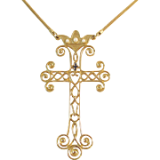 Limited Edition Sarah Coventry 1977 Cross Necklace Vintage