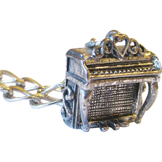 Sterling Beaucraft Piano Charm and Bracelet Vintage