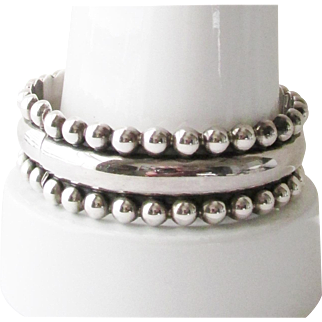 Mexico Sterling Clamper Wide Bracelet 41.75 Grams