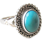 Sterling Turquoise Vintage Ring