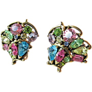 Hollycraft 1955 Pastel Earrings Vintage