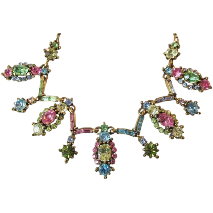Hollycraft 1955 Vintage Pastel Necklace