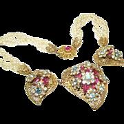 Signed Original By Robert Heart Vintage Necklace Choker