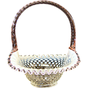 Fenton Opalescent Basket
