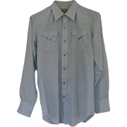 Vintage 1970's H BAR C Western Dress Shirt